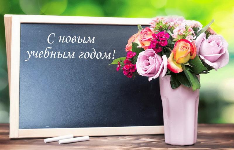 1 сентября. Красивые цветы к новому учебному году. С новым учебным годом!