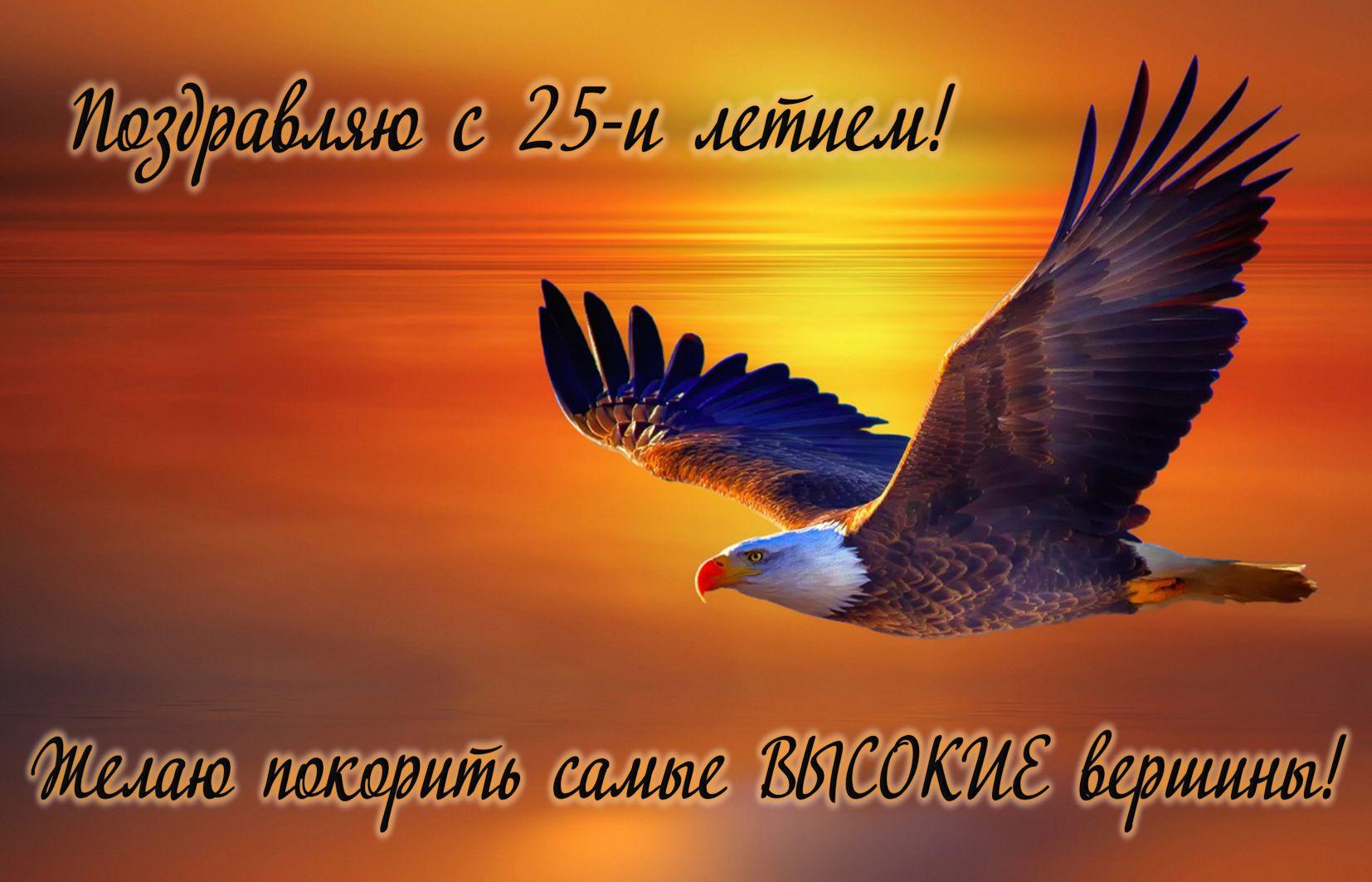 Признании любви, орел в небе открытка