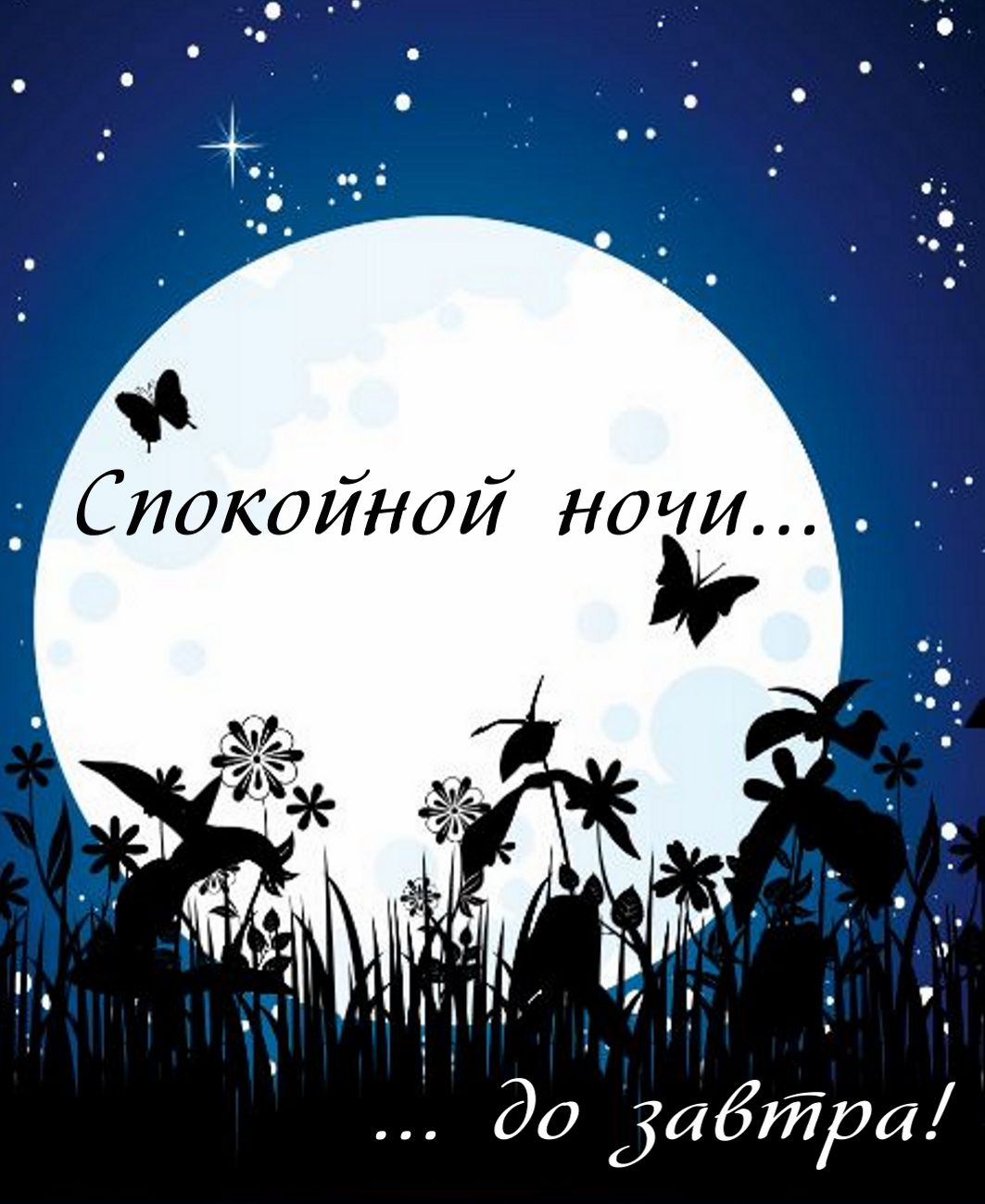 Картинки с надписью спокойной ночи друг
