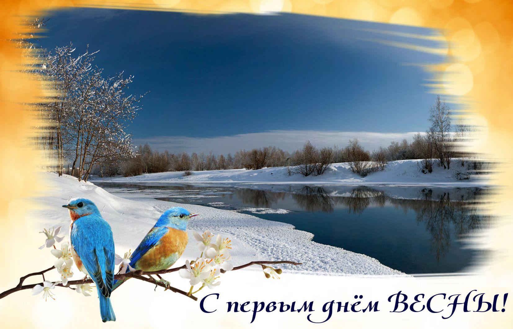 С первый днем весны открытка