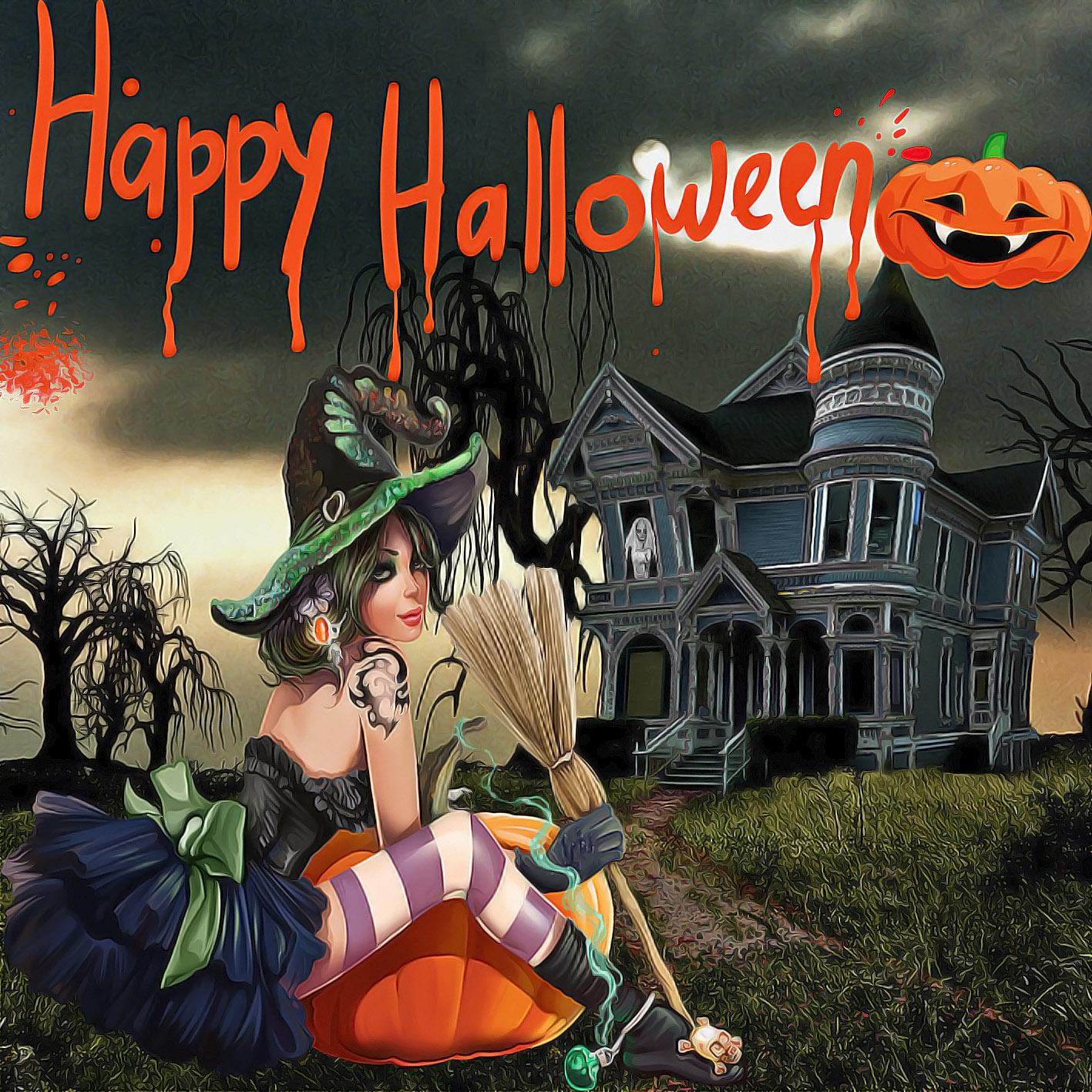 Днем, хеллоуин открытки