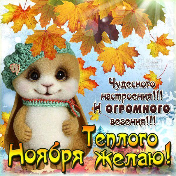 гифка с хорошим днем ноября одной барышень пока