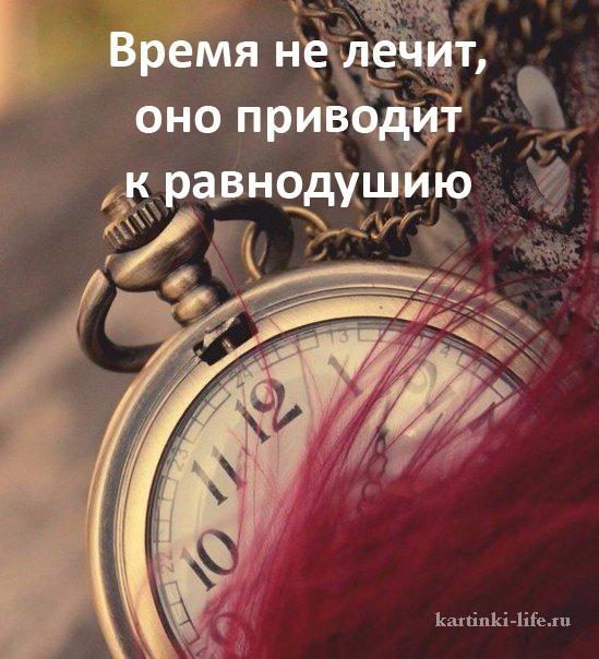 Время не лечит, оно приводит к равнодушию.