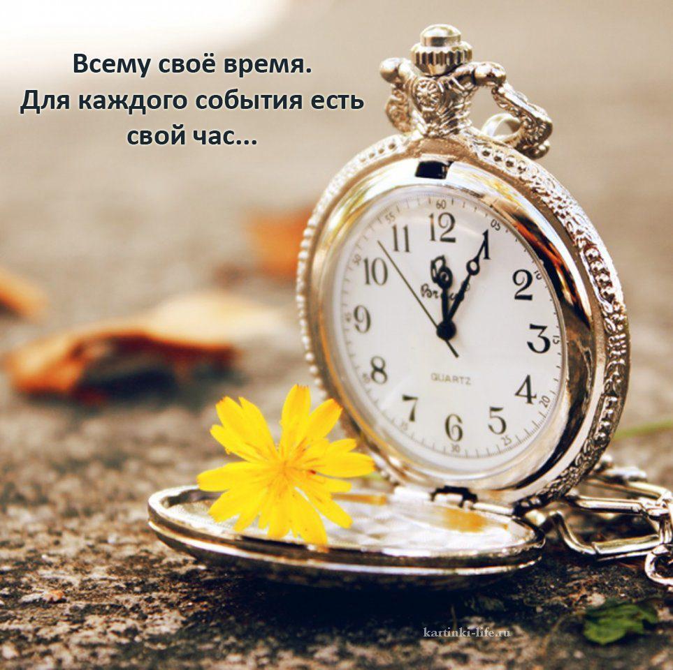 Всему своё время. Для каждого события есть свой час...