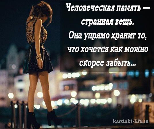 Человеческая память — странная вещь. Она упрямо хранит то, что хочется как можно скорее забыть...