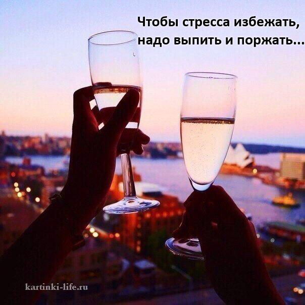 Чтобы стресса избежать, надо выпить и поржать...