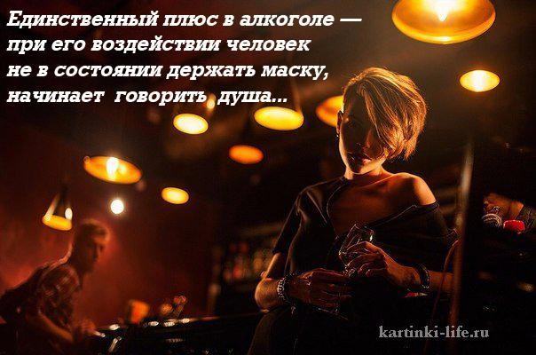 Единственный плюс в алкоголе — при его воздействии человек не в состоянии держать маску, начинает говорить душа...