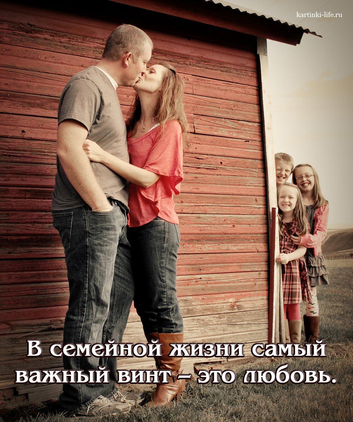 В семейной жизни самый важный винт – это любовь.